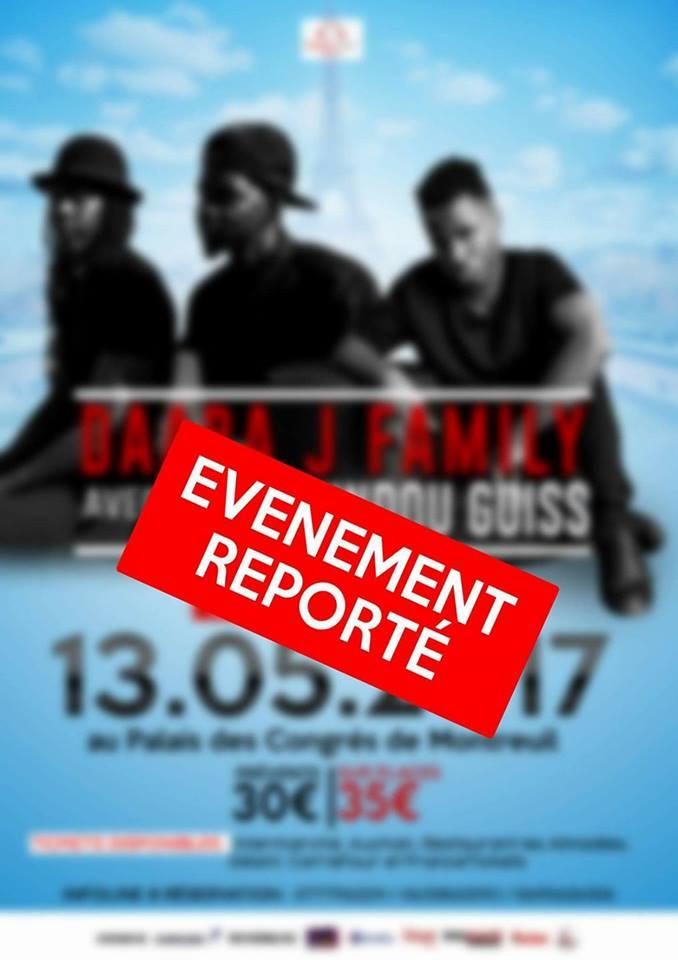Le rendez-vous du 13 Mai au Palais des Congrés de Montreuil avec Darra dji et Dip est reporté.
