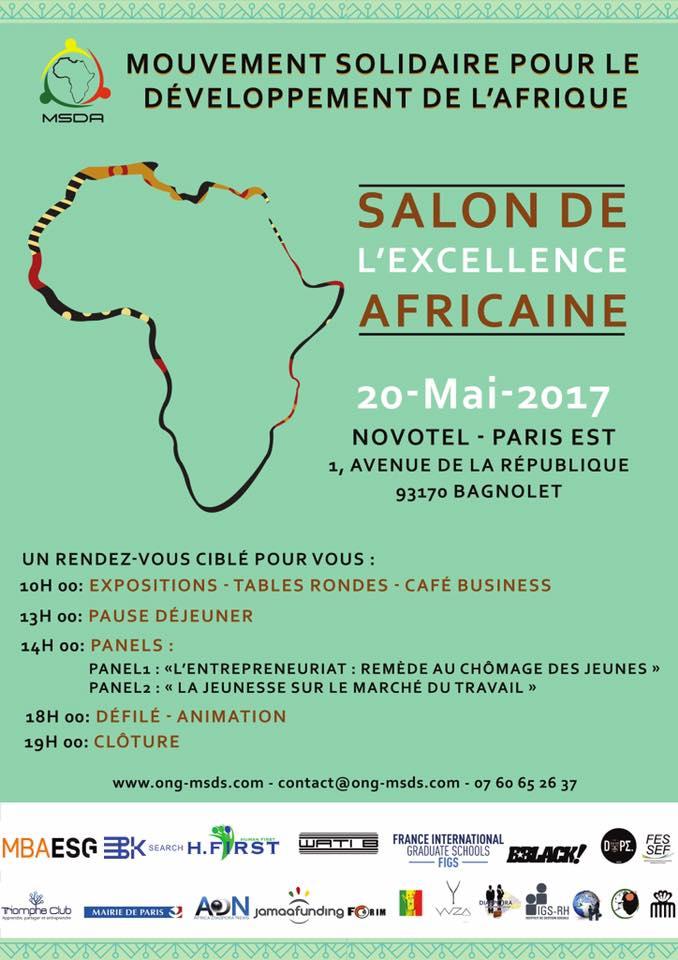PREMIERE EDITION DU SALON DE L'EXCELLENCE AFRICAINE Développer l'Afrique via l'entrepreneuriat social et solidaire !