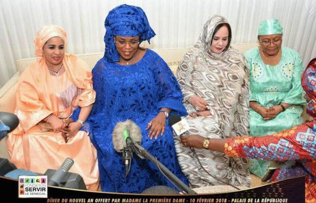 Dîner du nouvel an offert par la Première Dame, Madame Marème SALL, Les plus belles Sagnsé Sénégalaises au …