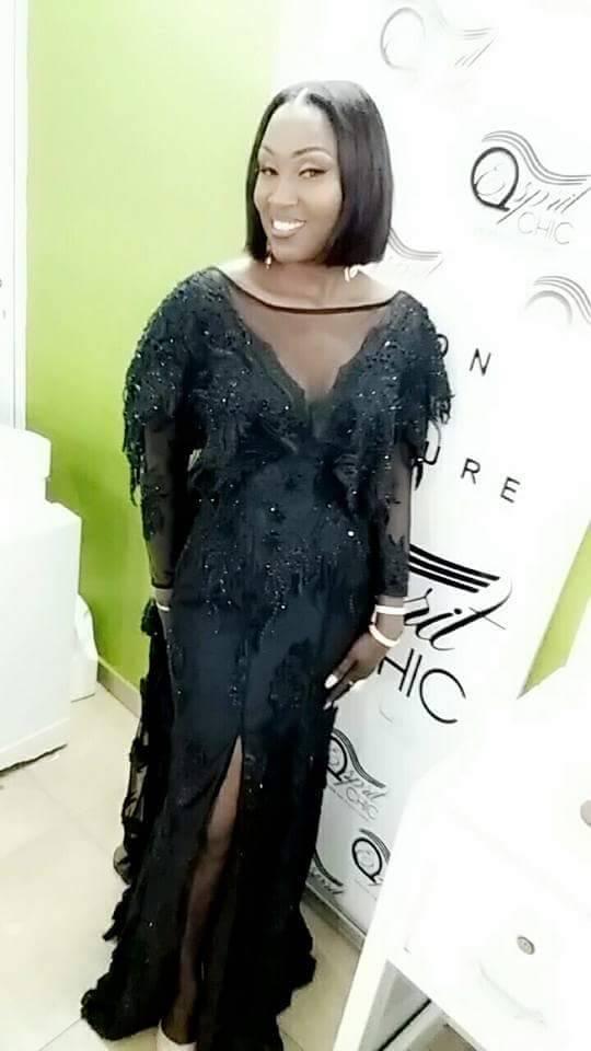 Ndeye Fatou Ndiaye la styliste patronne de Diodio Couture ravissante au gala des Cauris D'or 2018