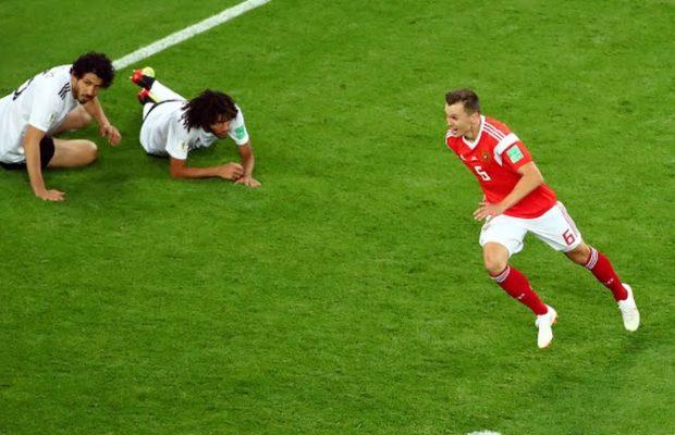 Russie-Egypte 3-1: Dzyuba enfonce les Égyptiens avec un troisième but !