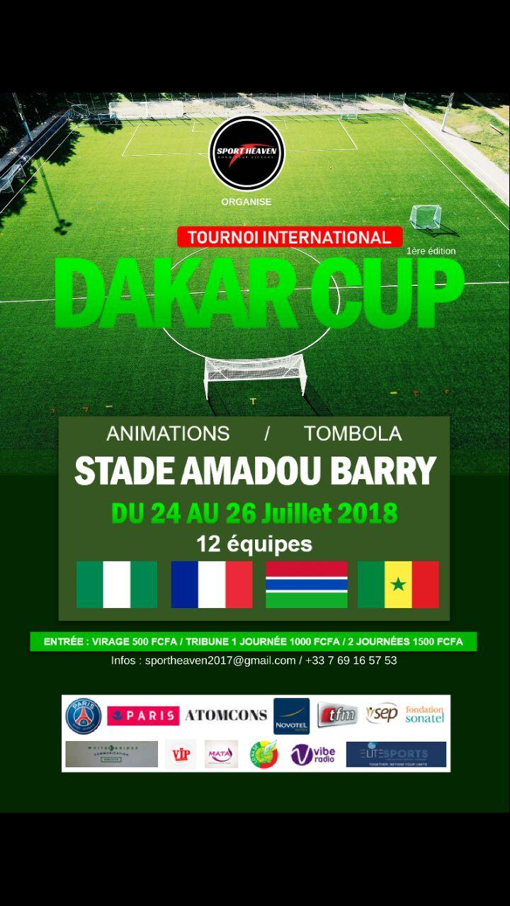 TOURNOI INTERNATIONAL DAKAR CUP ARRIVE AU STADE AMADOU BARRY DU 24 au 26 JUILLET.