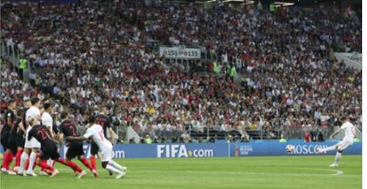 Vidéo-CDM 2018: l'Angleterre ouvre le score contre la Croatie