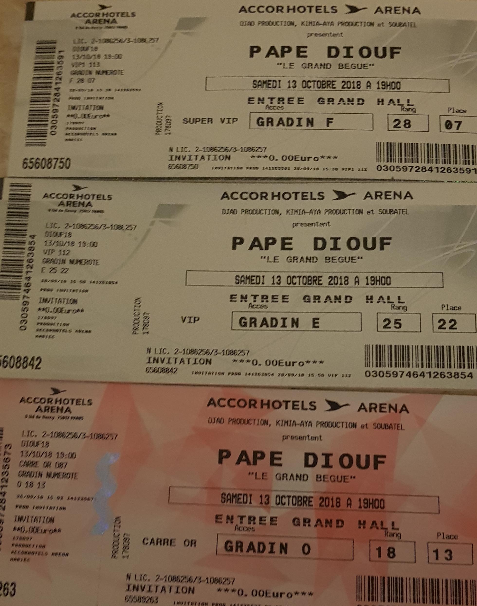 BERCYDE PAPE DIOUF: Les tickets SUPER VIP 200 EUROS, VIP 150 EUROS ET CARREE OR 60 EUROS appelez le 0752508807