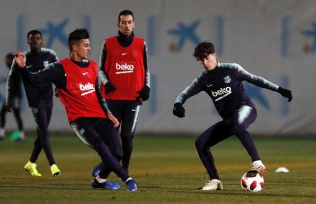 Les premières images de Wagué avec Messi et Suarez … à l'entrainement