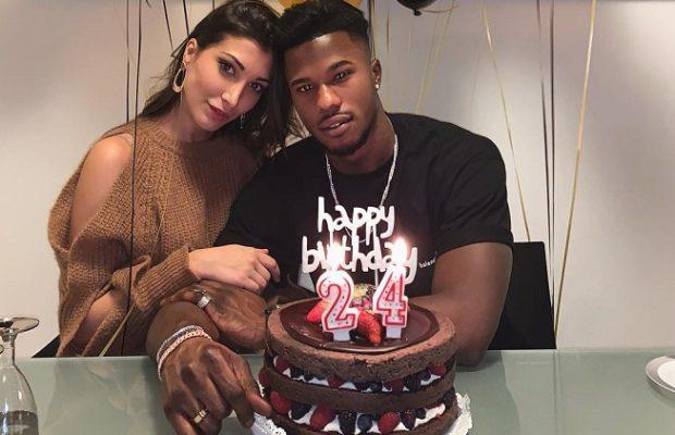 La fête d'anniversaire de Keita Baldé pour ses 24 ans, avec sa copine