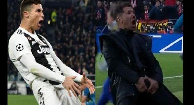 Après son triplé, Ronaldo a répondu à la fameuse célébration de Diego Simeone, l'entraîneur de l'Atlético, et risque gros pour son geste polémique
