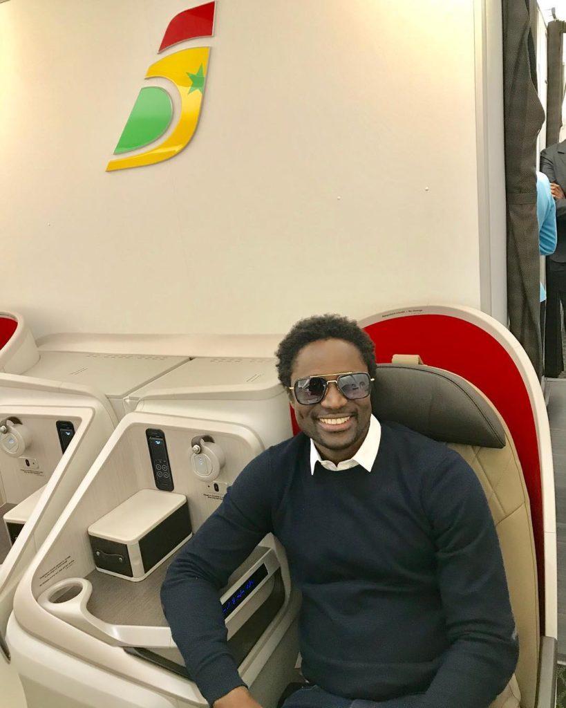 Alassane NDour, ancien footballeur sénégalais voyage à bord d'Air Sénégal
