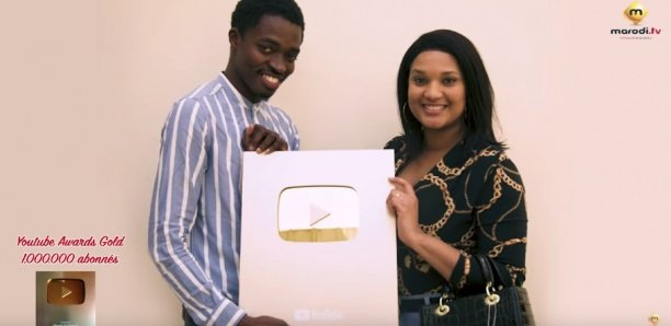 Marodi Tv gagne le Trophée Or de Youtube
