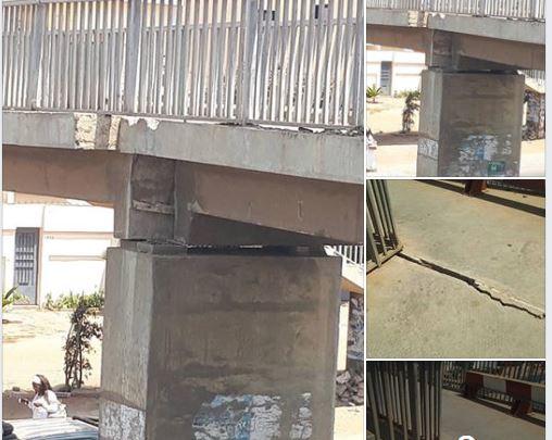 ATTENTION DANGER : Un pont à Yoff sur le point de s'affaisser, ALERTE (Photos)