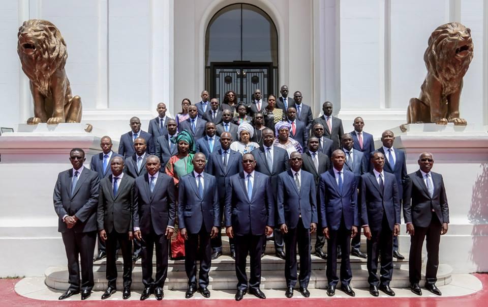 La photo officielle du Gouvernement Macky II