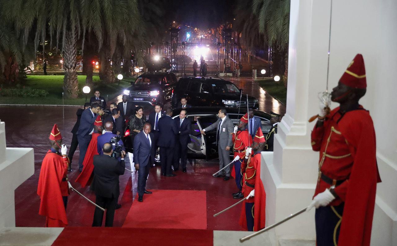 Rencontre avec S.E. Abdel Fattah Al-Sissi au Palais de la République suivie d'un dîner de travail