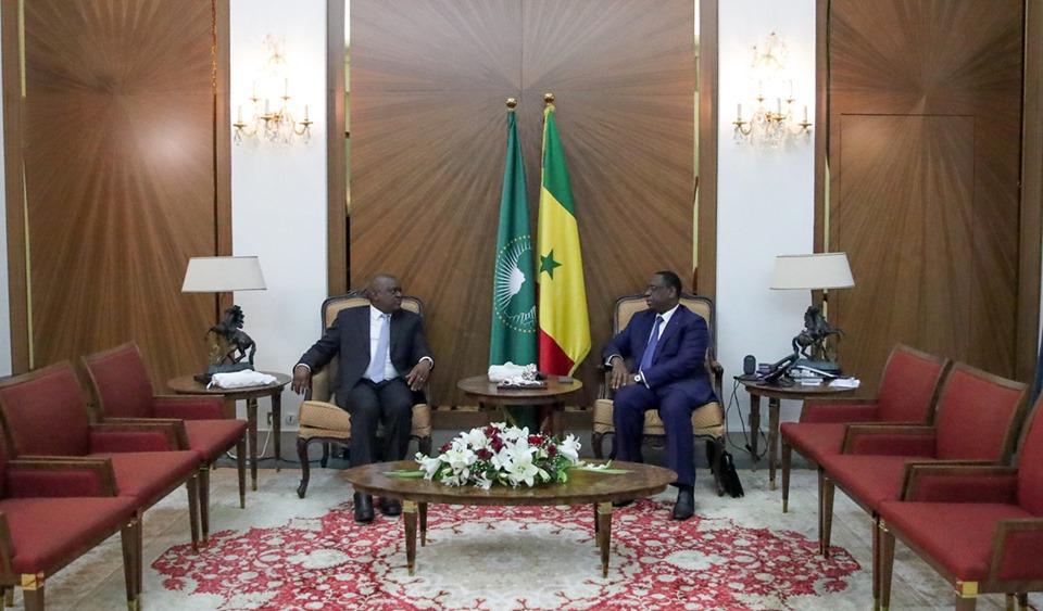 Rencontre du Président Macky SALL avec SEM Mokgweetsi Masisi, Président de la République du Botswana
