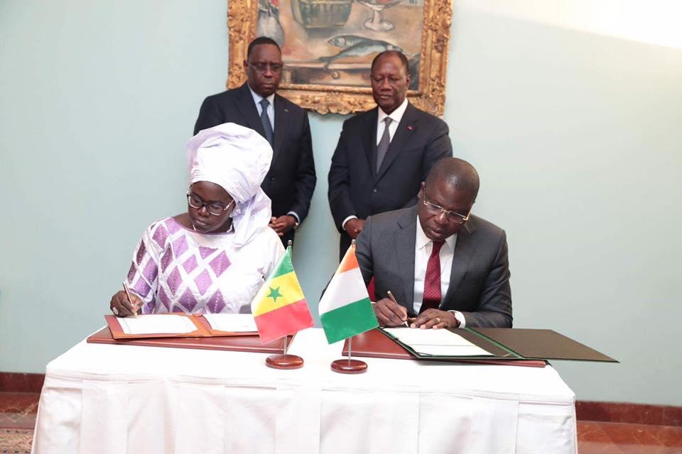 Macky Sall à Abidjan : Signature de 5 accords de coopération (en images)