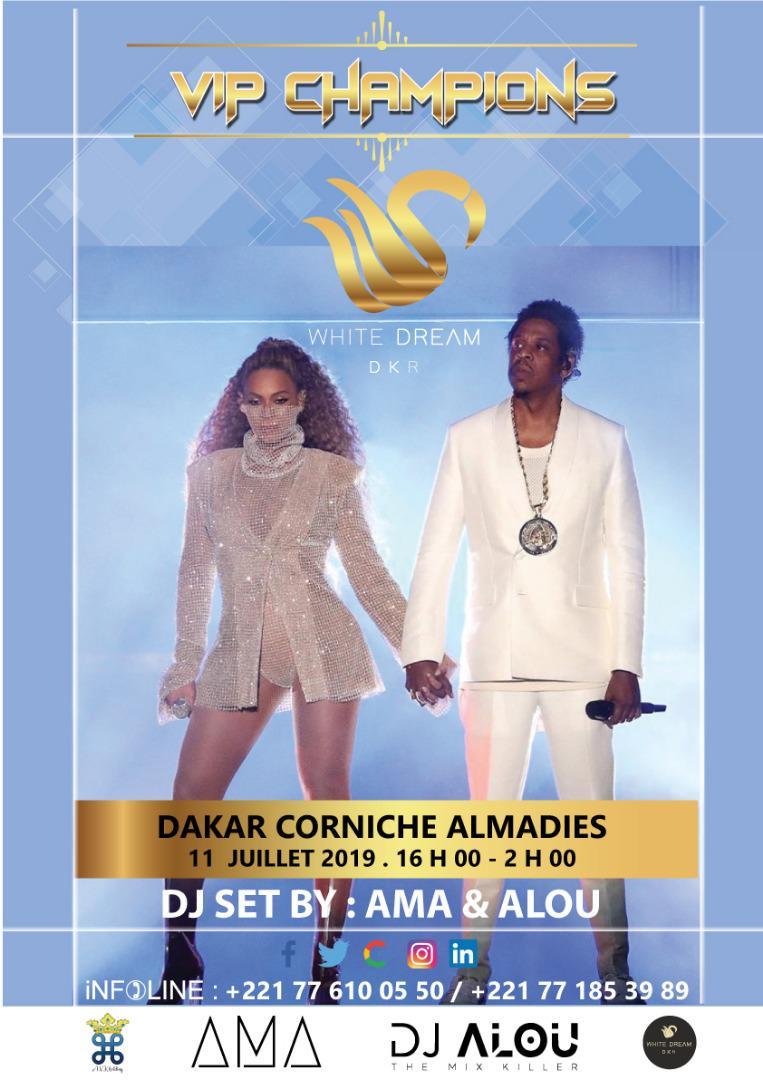 DU NOUVEAU À DAKAR: LE 11 JUILLET DE 16 H à 02 H du matin au WHITE DREAM sur la corniche avec le DJ international AMA.