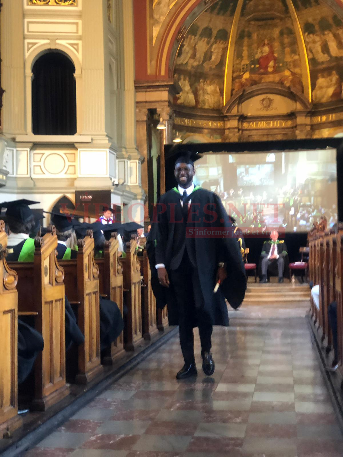 Le fils de Youssou Ndour,Segui reçoit son diplôme BA Global Management Leadership and Management de la Regents University de Londres