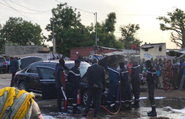 Nguéniène : La limousine Présidentielle prend feu, Tout ce que vous n'avez pas vu en Images, Regardez