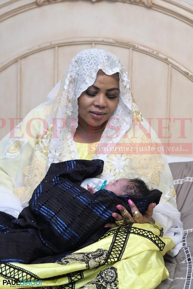 """Les différents """"SANGNE SÉ"""" de Amina Poté le jour du baptéme de sa fille aux USA."""
