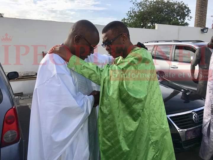 Prière Eid el Fitre Massalikoul Djinane, le ministre conseiller Youssou Ndour et le ministre du sport Matar Ba