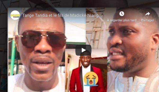 Tange Tandia et le fils de Madické Niang prient pour le repos de Zoula (décédé hier nuit)