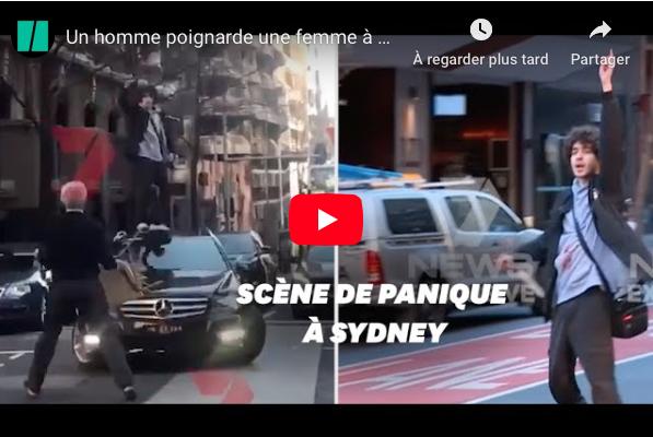 """VIDEO - À Sydney, un homme poignarde une femme aux cris de """"Allah Akbar"""""""