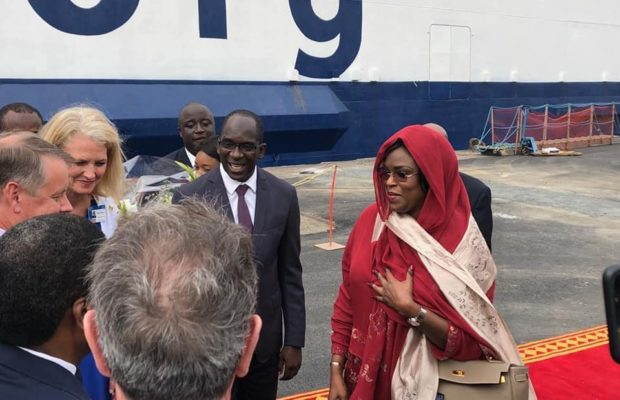 Arrivé du BATEAU-HÔPITAL AFRICA MERCY: Marième Faye Sall AU PORT DE DAKAR