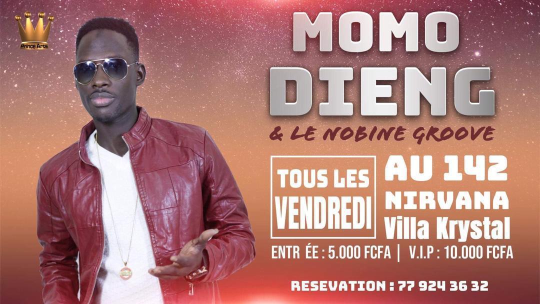 Aprés avoir enflammé la Villa Cristal le CR7 de la musique Momo Dieng vous attend ce vendredi encore et le  31 aout à AFRICA LOUNGE RDC