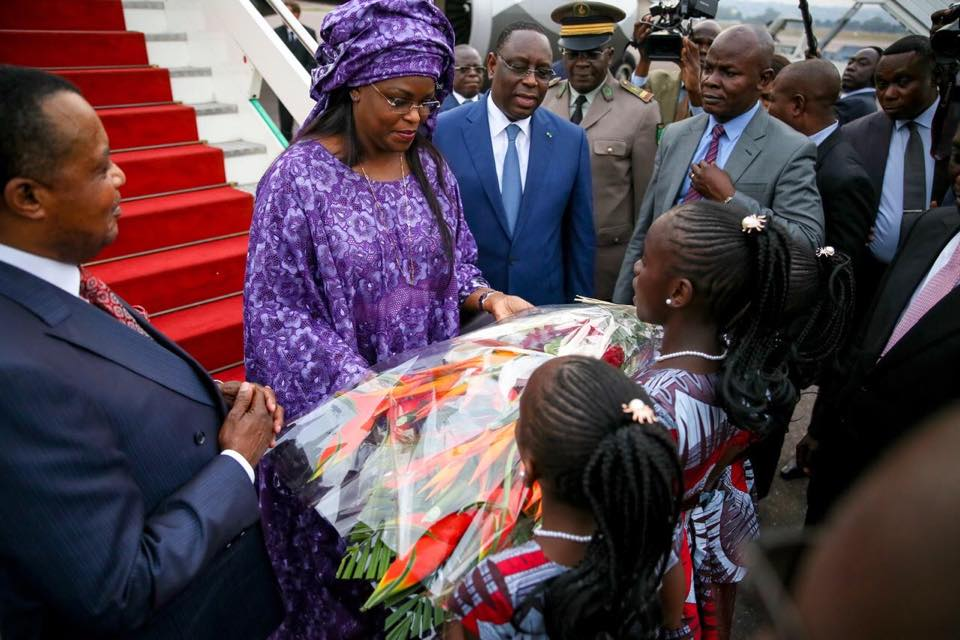 Le Président Macky Sall et la Première Dame chaleureusement accueillis à Brazzaville