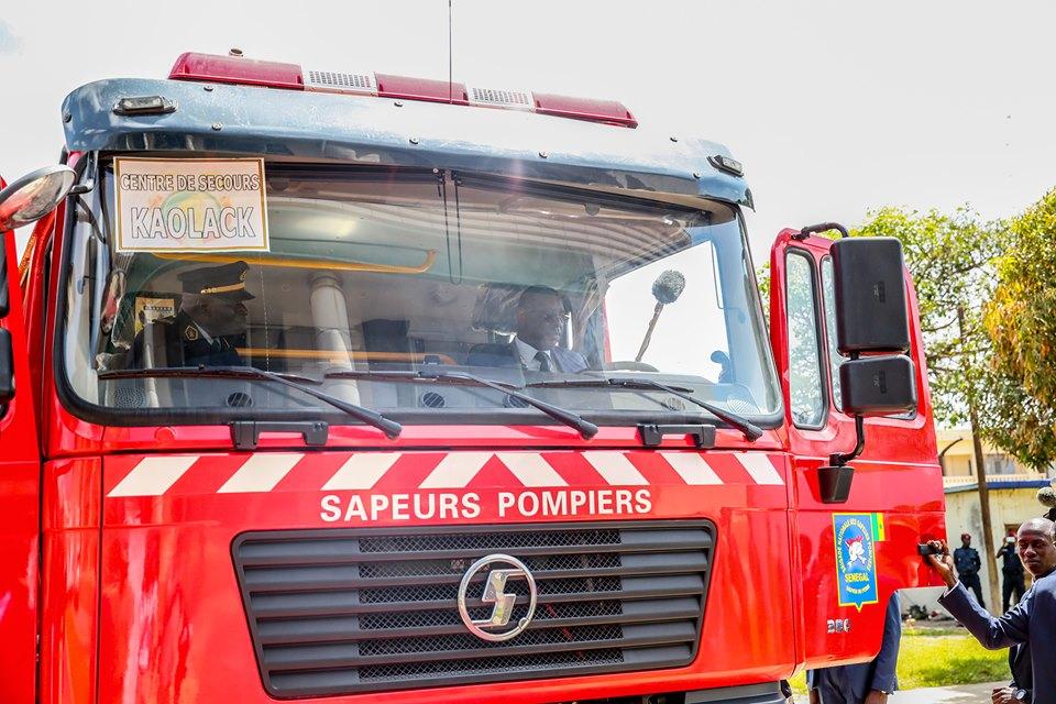 Réception 1er lot de matériel du programme spécial d'équipement de la Brigade nationale des sapeurs-pompiers.