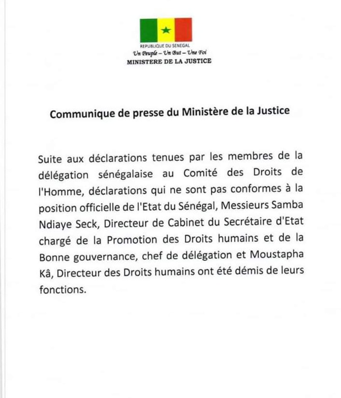 Affaire Karim Wade: Moustapha Kâ et Samba Ndiaye Seck limogés