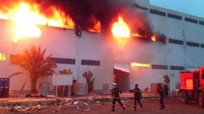 Urgent: Violent incendie au Technopole de Pikine