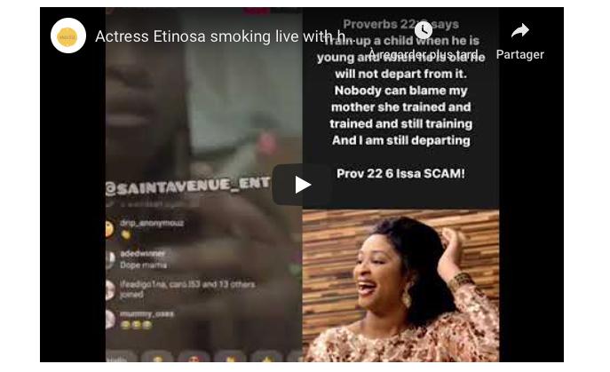 Une actrice nigériane fume et utilise la Bible comme cendrier (Vidéo)
