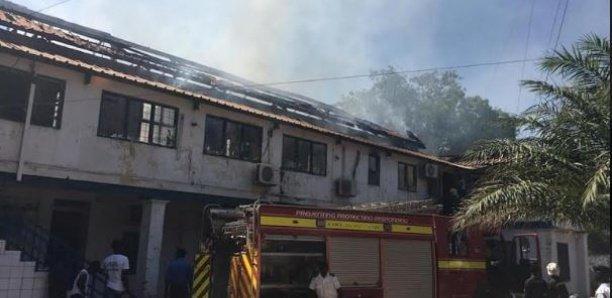 Le Ministère de la Pêche gambien ravagé par un violent incendie