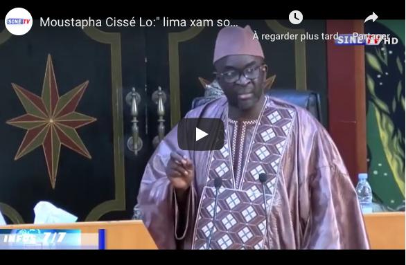 """Moustapha Cissé Lo frappe encore:"""" """"xam na ñi naane sangara nek si thiaga, di diay bonn... ci hôtel yi*"""""""