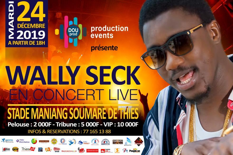 DOU PRODUCTION EVENTS, présente Waly Ballago Seck ce 24 décembre au stade Maniang Soumaré