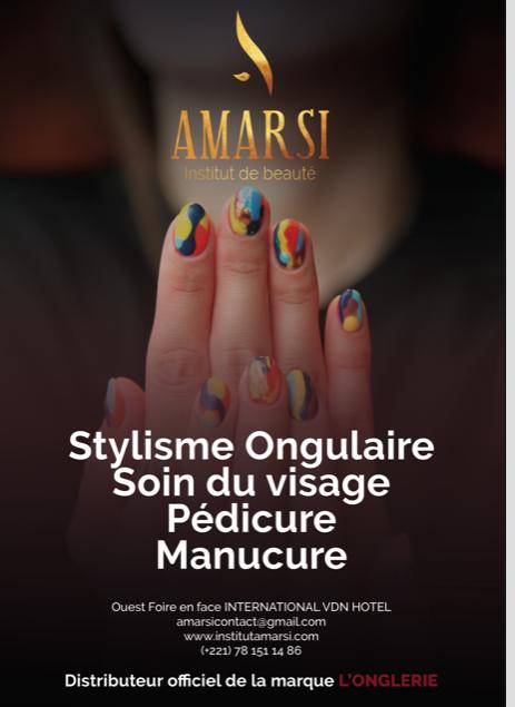 Du nouveau à Dakar AMARSI votre stylisme Ongulaire soins de visage,pédicure, manucure et beauté en face la gendarmerie de la foire.