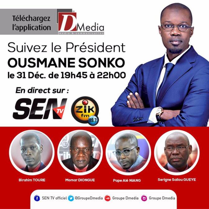 Discours du 31 Décembre: Ousmane Sonko fait la concurrence à Macky Sall