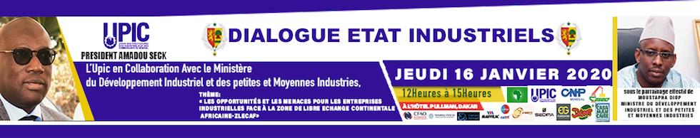 Dejeuner UPIC avec les industriels ce jeudi 16 janvier de 12H à 16 H à l'hotel PULLMAN de Dakar.