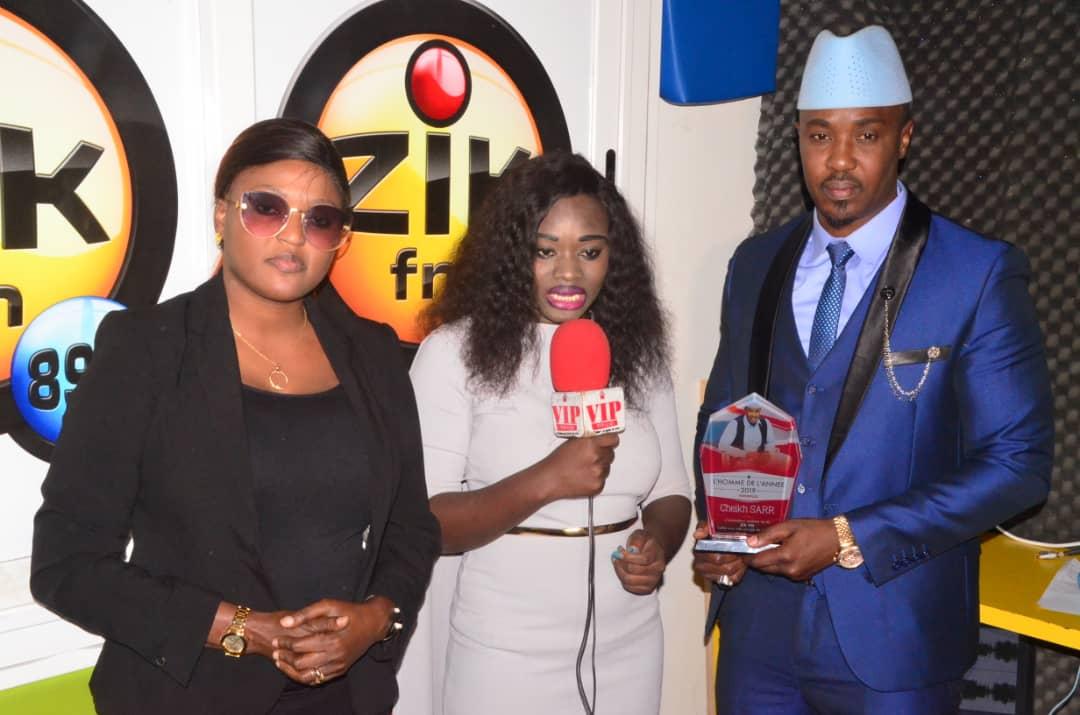 Homme de l'année 2019: VIPEOPLES.NET décerne le titre de meilleur animateur à Cheikh Sarr de la Radio Zik FM