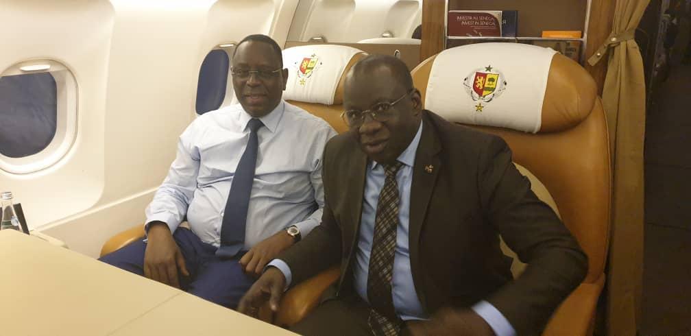 Le Président Mbagnick Diop du MEDS au forum économique mondial en Allemagne avec Macky Sall