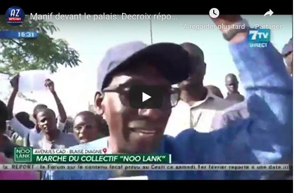 Manifestation devant le Palais: Decroix répond sèchement à Macky Sall