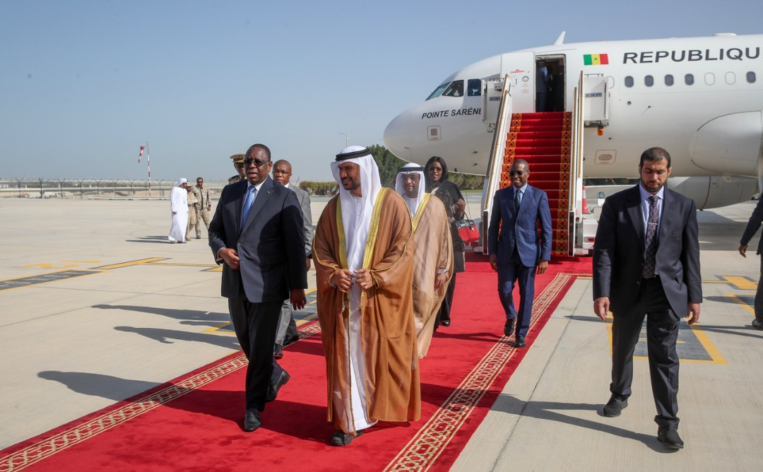 Les belles images de l'arrivée du Président Macky Sall à Abou Dhabi