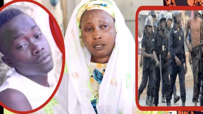Vidéo: Battu à m0rt par les policiers à Fatick, La mère de Lamine Koita inconsolable et explique les faits