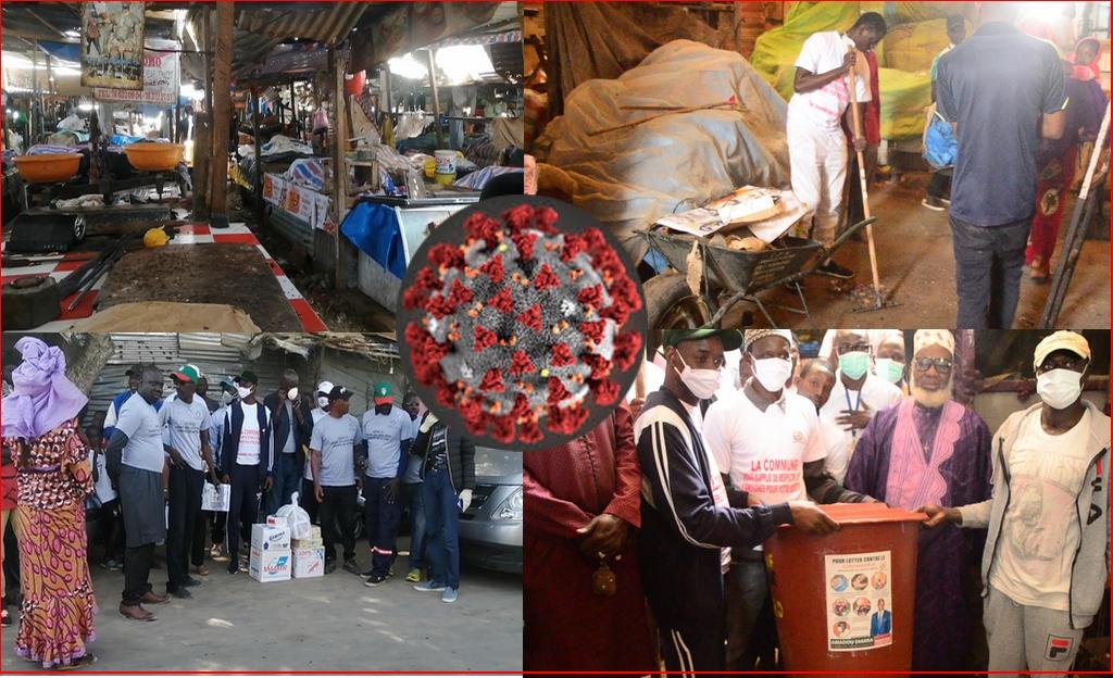 Lutte contre le COVID19/ Amadou Diarra dégaine des millions pour Marché Zinc pikine