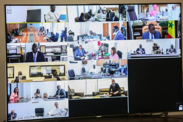 Visioconférence: Les images du Conseil des ministres