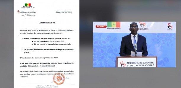 Covid-19: Le Sénégal enregistre 4 nouveaux cas positifs