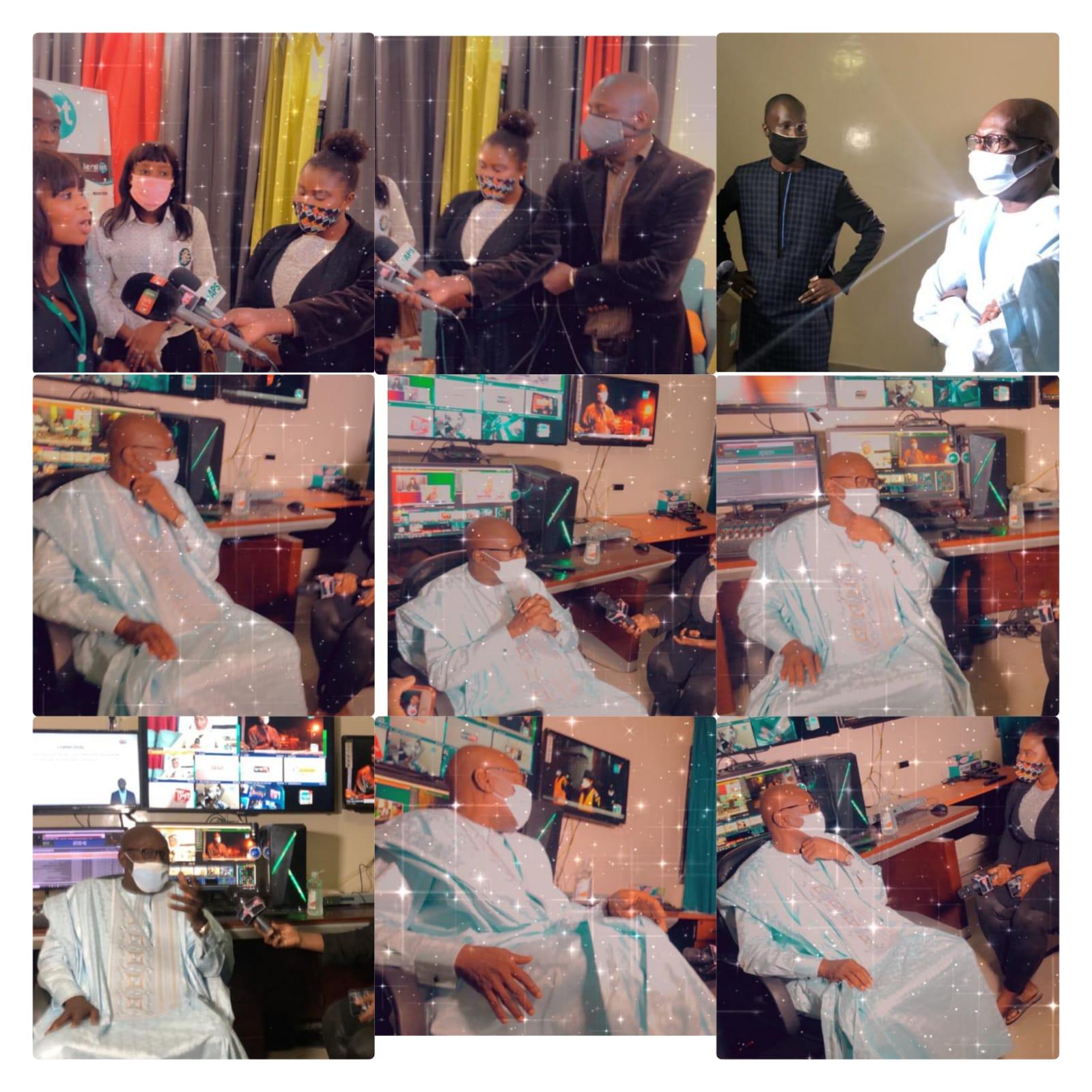 Visite du ministre de la culture et de la communication,Ablaye Diop dans les locaux de Leral TV