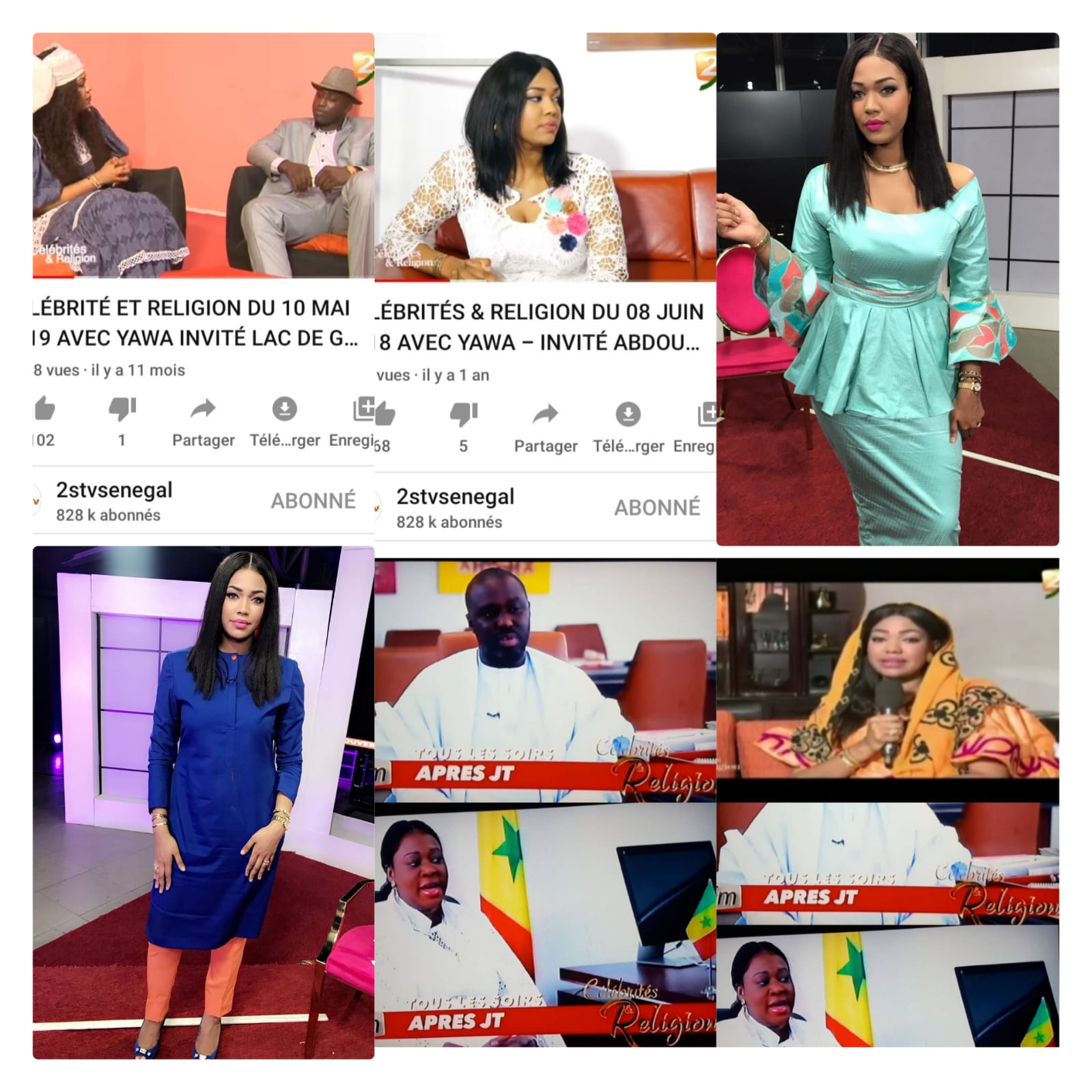 "Urgent: Ya Awa accusée de ""vol de concept""par la 2STV; El Hadj Ndiaye met en garde la TFM sur ses contenus."
