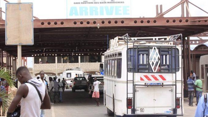LES 15 MILLIONS DE FORCE COVID-19 DIVISE LES TRANSPORTEURS DE LA GARE DE TOUBA