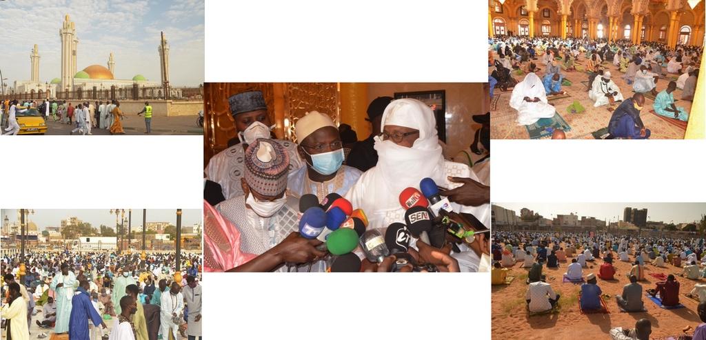 Déclaration de Mbakiou Faye après la prière d'eid mubarak à Massalikoul Djinane